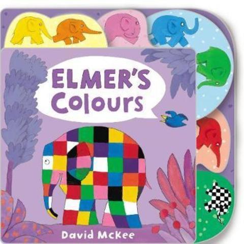 Elmer's Colours : Tabbed Board Book