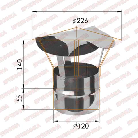 Зонт-Д d120мм (430/0,5мм) Ferrum