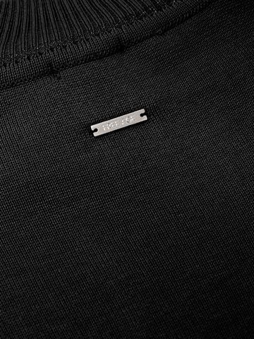 Черный джемпер свободного силуэта из шёлка с кашемиром - фото 6