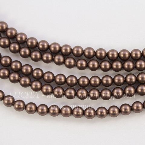 5810 Хрустальный жемчуг Сваровски Crystal Velvet Brown круглый 3 мм, 10 шт
