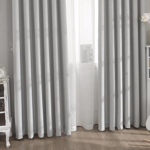 Портьеры блэкаут рогожка - серые. Ш-150/200 см., В-250/270 см. В упаковке - 2 шт. Арт. KBLL-7