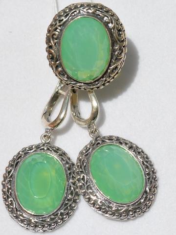 Эсфахан (кольцо + серьги из серебра)
