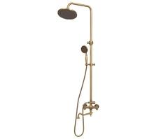Комплект для ванны и душа (излив резной 25 см) Bronze de Luxe 10131D
