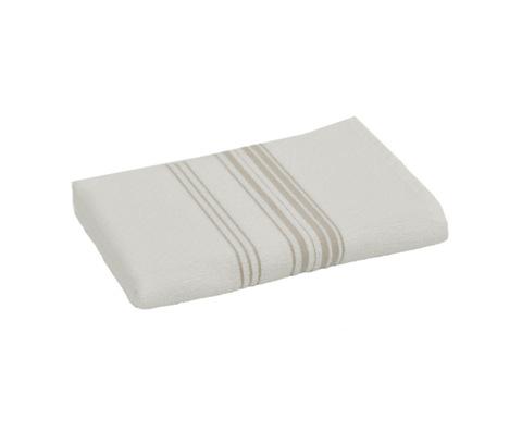 Полотенце 50x100 Hamam Meyzer с коричневым белое