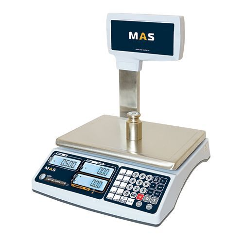 фото 1 Весы торговые электронные со стойкой MAS MR1-30P на profcook.ru