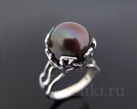 кольцо с жемчугом кс-7002