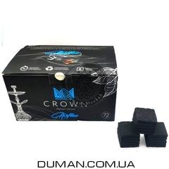 Натуральный кокосовый уголь Crown Airflow  (Краун) для кальяна  1кг 72куб 25*25мм