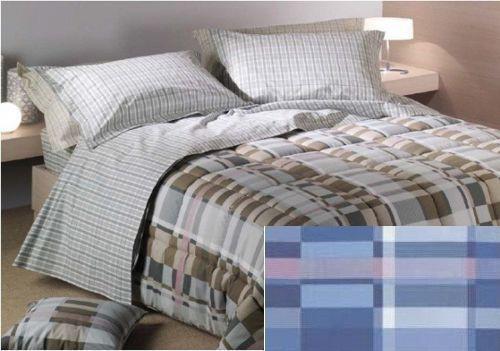 Постельное белье 1.5 спальное Caleffi Nevada голубое