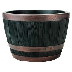 Кашпо пластиковое имитация бочки Stewart Blenheim Half Barrel 81L