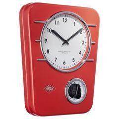 Часы настенные Wesco Classic Line красные