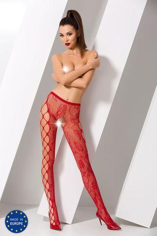 Эротичные колготки с доступом S008 красного цвета фото