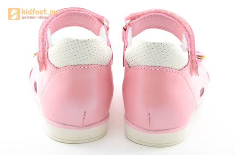 Босоножки ELEGAMI (Элегами) из натуральной кожи для девочек, цвет розовый. Изображение 7 из 12.