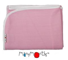 Плед детский ManyMonths, 75 x 75 см, Нежно-розовый (шерсть мериноса 100%)