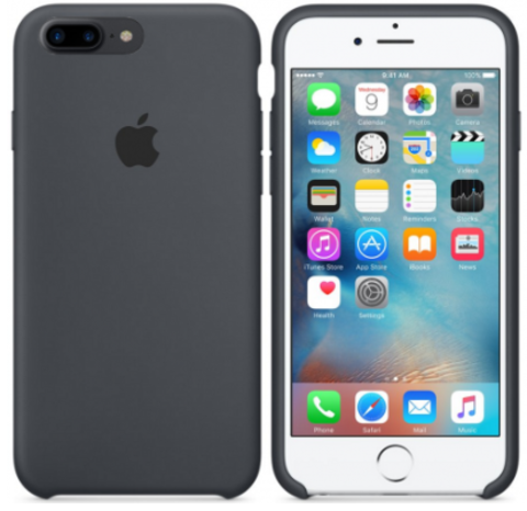 iPhone 7Plus/8Plus Silicone Case Темно Серый