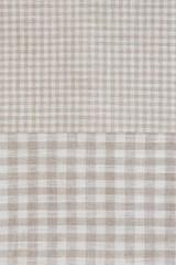 Набор полотенец 2 шт Luxberry Timeless в клетку белый/натуральный
