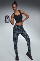Легинсы для фитнеса с карманами цвета милитари