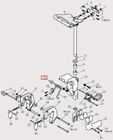 Втулка рамки для лодочного мотора F9.8 Sea-PRO (13-27)