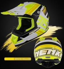 Кроссовый мото шлем NENKI Hot Pistons NK-315, жёлтый-чёрный