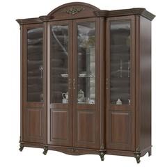 Шкаф 4-х дверный Да Винчи орех