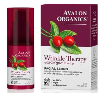 Сыворотка против морщин с коэнзимом Q10 и шиповником, Avalon Organics