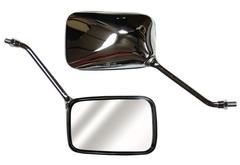 Зеркала для мотоцикла Honda CB400,Honda Bros400 прямоугольные, хром