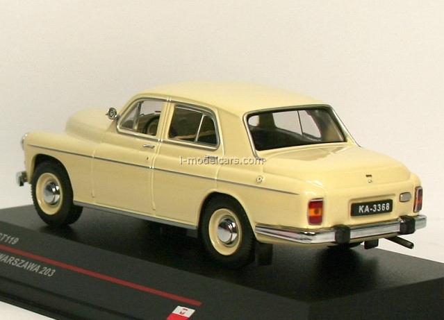 Model Cars Warszawa 203 Beige 1965 Ist119 Ist Models 1:43