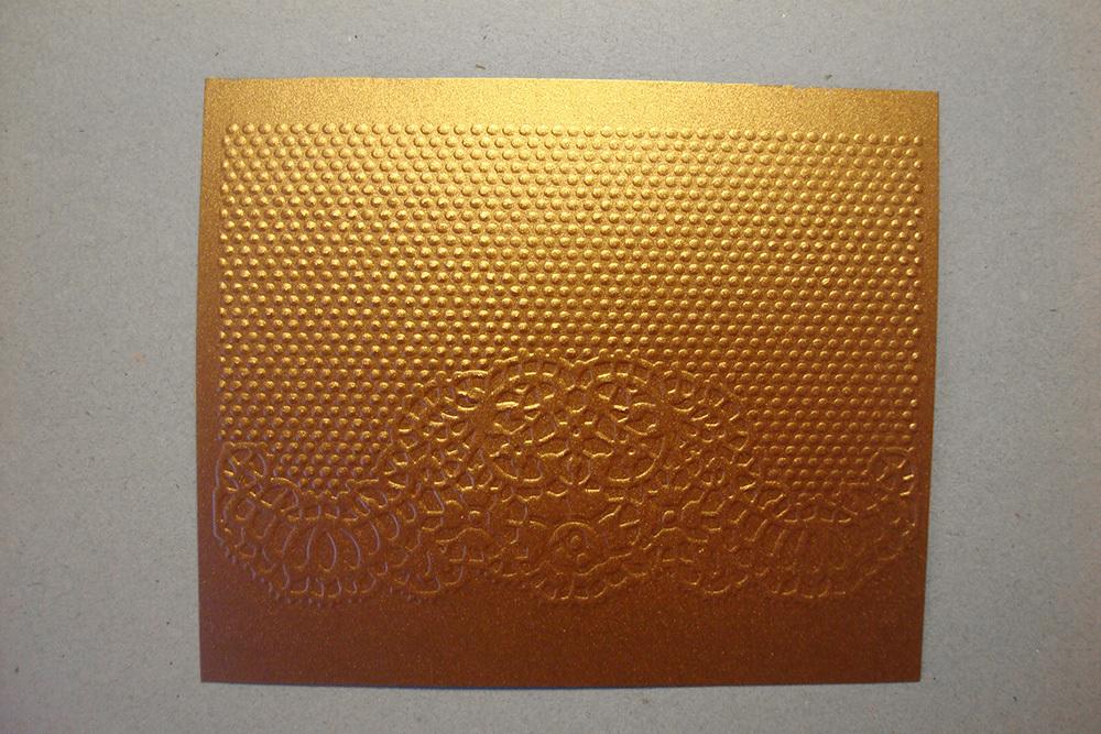 Бумага с тиснением Кружево, коричневый