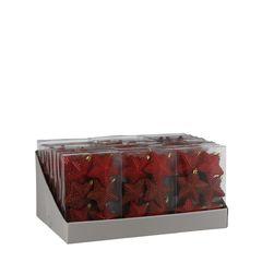 Набор елочных игрушек 6шт см House of Seasons Звезда красный