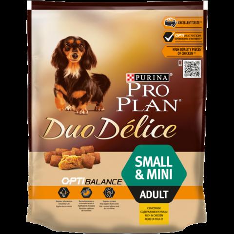 Pro Plan DUO DELICE сухой корм для взрослых собак мелких пород (курица, рис) 700 г
