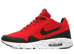 Кроссовки Мужские Nike Air Max 1 Red Black Speck White ( c Мехом)
