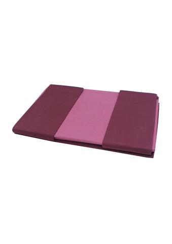 Постельное белье 2 спальное Caleffi Bicolor бордовое