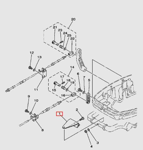 Скоба крепления тросов Т30EР (13-1W)