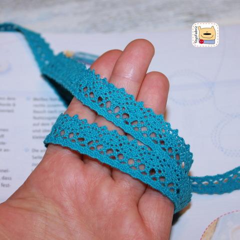 Кружево вязаное КХ3-А (аквамарин) 90см