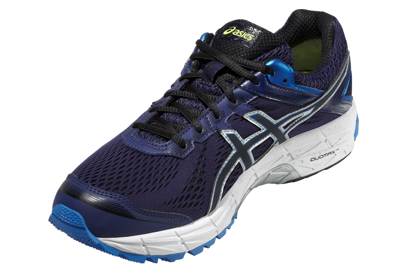 Мужские непромокаемые беговые кроссовки Asics GT-1000 4 G-TX (T5B2N 4990) синие фото слева
