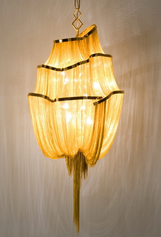 chandelier Atlantis 2  by B. Baylar for Terzani gold colour ( diam. 65 cm )