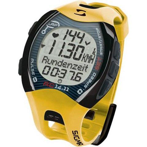 Купить Наручные часы Sigma 21411 с пульсометром RC 14.11 yellow по доступной цене