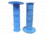 Мото грипсы FAST PRO, мягкие ручки руля, голубые