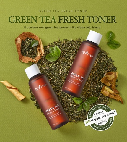 Освежающий тонер с зеленым чаем, 200 мл / Isntree Green Tea Fresh Toner
