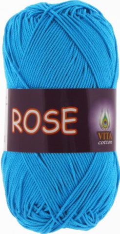 Пряжа Rose (Vita cotton) 3937 Голубая бирюза