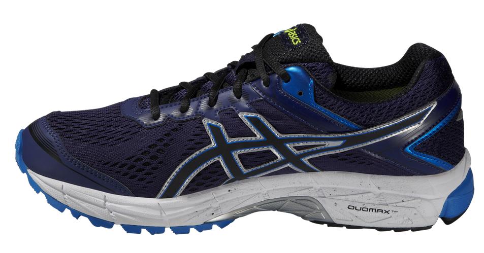 Мужские непромокаемые беговые кроссовки Asics GT-1000 4 G-TX (T5B2N 4990) синие фото