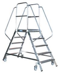 Лестница - платформа двухсторонняя с 8-ю алюм. ступеньками (нов.)