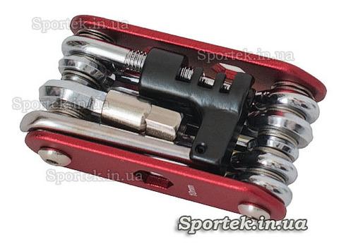 Мультитул велосипедный 15 в 1, набор велосипедных шестигранников, выжимка цепи, ключ для бортировки колес