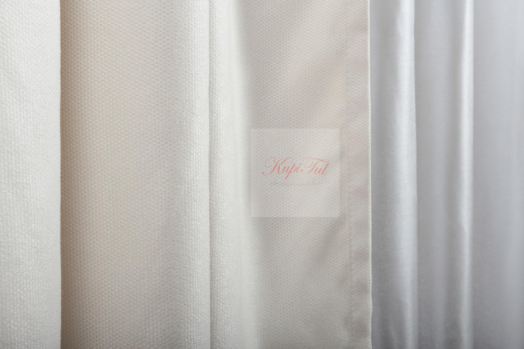 Длинные шторы, Ницца (молочный)