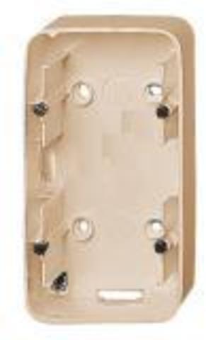 Двухместная коробка для накладного монтажа. Цвет Cлоновая кость. Legrand Valena Allure (Легранд Валена Аллюр). 755562