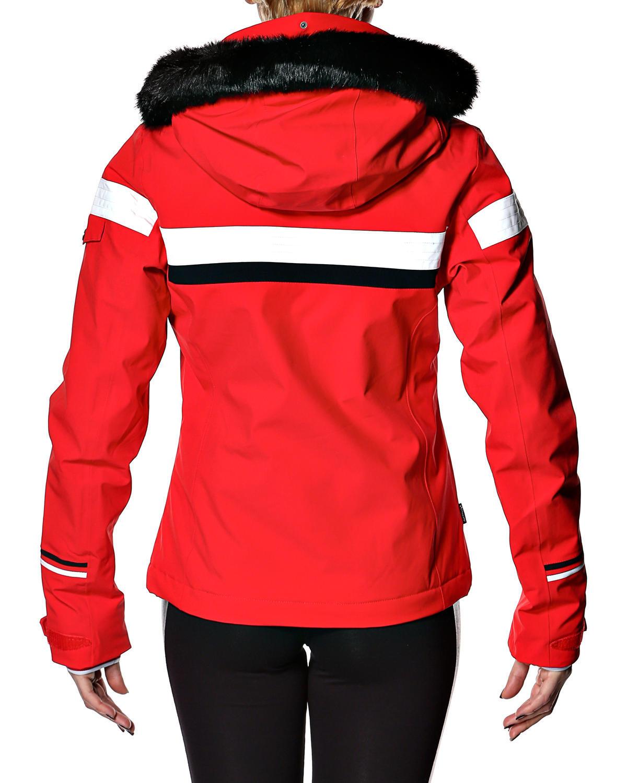 Женская горнолыжная куртка 8848 Altitude Carlin красная (668703) сзади