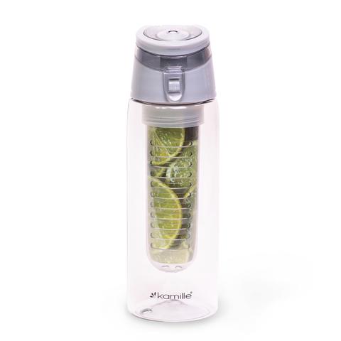 Бутылка для воды с ситечком 660 мл. Kamille серая