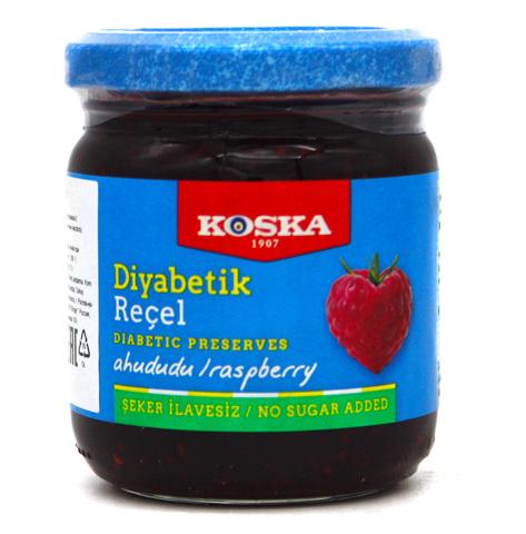 Диабетическое варенье с малиной, Koska, 240 г