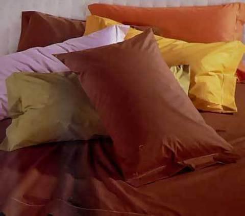 Наволочки 2шт 70х70 Caleffi Tinta Unita перкаль темно-коричневые