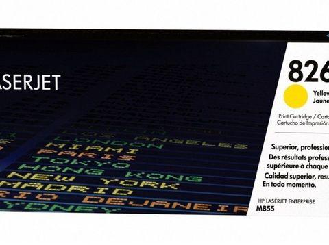 Картридж HP CF312A (826A) для HP Color LaserJet Enterprise M855, желтый. Ресурс 31500 страниц