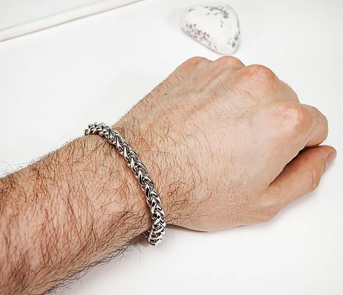 BM543-1 Мужской браслет цепь серебристого цвета фото 06